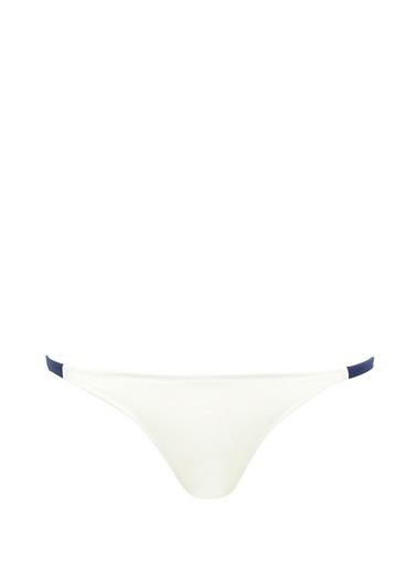 Solid & Stripe İpli Bikini Altı Lacivert
